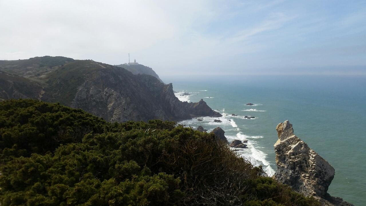 Blick zurück zum Cabo da Roca